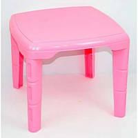 Стол детский квадратный Консенсус Розовый