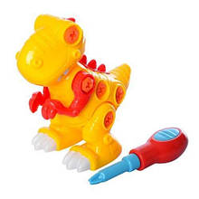 KM6131 Конструктор   на шурупах, динозавр15см, отвертка, в кульке, 15-14-8,5см