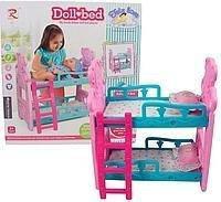 8117 Кроватка для кукол двухъярусная в коробке, фото 2