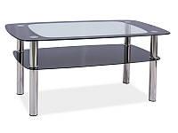 Журнальный стол RAVA C прозрачный-черный/хром 100x60X55 (Signal)