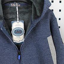 5341 Теплая кофта с мехом на молнии для мальчика тм F&D Kids размер 152 см, фото 3