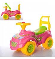 0793 Детский автомобиль толокар для прогулок Принцесса Технок для девочки