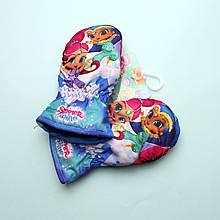 800-553 Варежки детские зимние Shimmer Shine для девочки тм Nicklodeon размер 3-4 лет