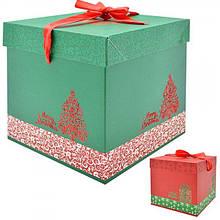 9813-M Игрушка Коробка подарочная новогодняя 20см
