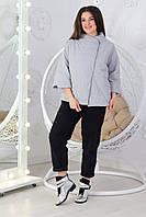 Укороченная куртка ветровка - жилет Oversize ХИТ 2019/20, арт М524, цвет серый