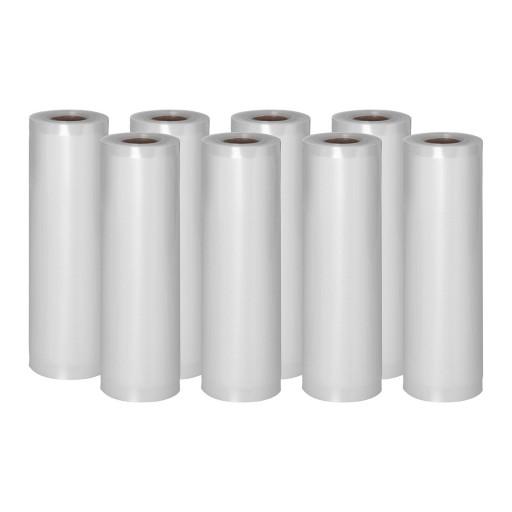 Пленка moletowana для вакуумной упаковки - 8 рулонов - 600 х 20 см Royal Catering