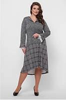 Женское платье приталенное ангора ассиметрия большого размера 52, 54, 56, 58 р цвет ангора