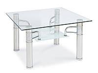 Журнальный стол RENI D прохрачный./хром 60x60x55 (Signal)