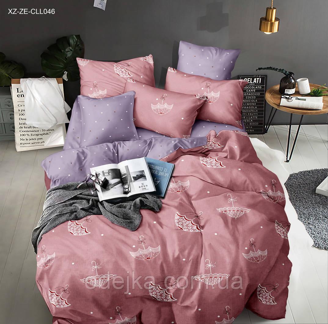 Двуспальный комплект постельного белья евро 200*220 сатин (13450) TM КРИСПОЛ Украина