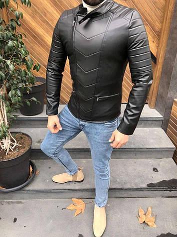Мужская кожаная куртка/косуха Lines 5 размеров, фото 2