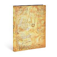 Блокнот Paperblanks Заметки Леонардо да Винчи Flexi Большой в Линейку 240 страниц (FB4458-1) (9781439744581)