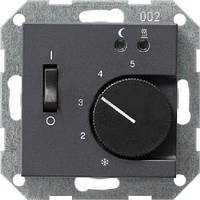 Терморегулятор с датчиком температуры пола GIRA System 55 антрацит - 039428