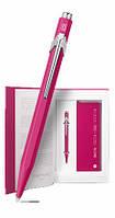 Набор Caran d'Ache Ручка 849 Пурпурная + Блокнот в Подарочном боксе (CC0849.016) (7630002334471)