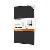 Блокнот Moleskine Paper Tablet Cahier (2 шт) Средний (13х21 см) в Линейку Черный (8053853605696)