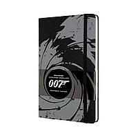 Блокнот Moleskine James Bond Середній (13х21 см) в Лінійку Чорний (8053853603838), фото 1
