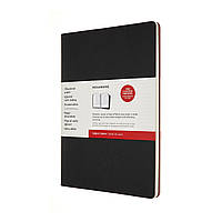 Блокнот Moleskine Cahier 2 шт. Subject А4 (21х29,7 см) Черный Бордовый (8053853602527)