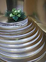 Подложка для торта золото-серебро d 32 см