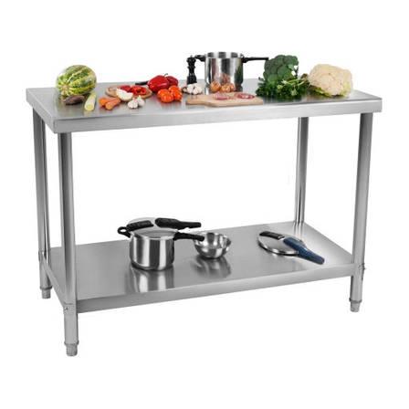 Рабочий стол - 100 x 60 см - 114 кг - нержавеющая сталь Royal Catering, фото 2