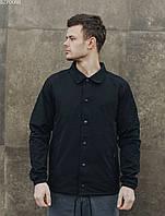 Куртка ветровка мужская с капюшоном Staff black F