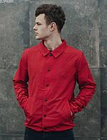 Куртка ветровка мужская с капюшоном Staff red F