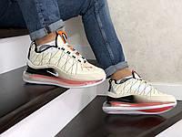 Мужские зимние кроссовки на термопрокладке Nike Air Max 720, воздушная подушка(до 85кг), бежевые