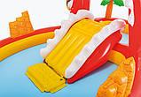 """Детский бассейн Intex с горкой """"Веселый динозавр"""" 259х165х107см, надувные игровые центры, фото 5"""