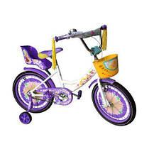Детский двухколесный велосипед GIRLS 18 дюймов фиолетовый