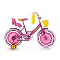 Детский двухколесный велосипед GIRLS 18 дюймов розовый