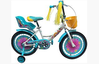 Детский двухколесный велосипед GIRLS 18 дюймов бирюза