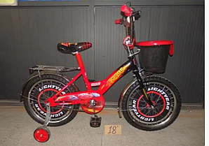 Детский двухколесный велосипед  MUSTANGТачки с корзиной 18 дюймов красный