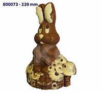 Форма для шоколада 3D — Зайчик в цветах