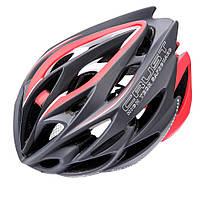 Велошлем защитный Meteor Crust in-Mold (original) кросс-кантрийный с регулировкой, шлем велосипедный L