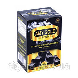 Вугілля кокосовий AMY 1 кг(72 кубика)
