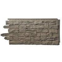 Фасадная панель Рваный камень Smoke Gray