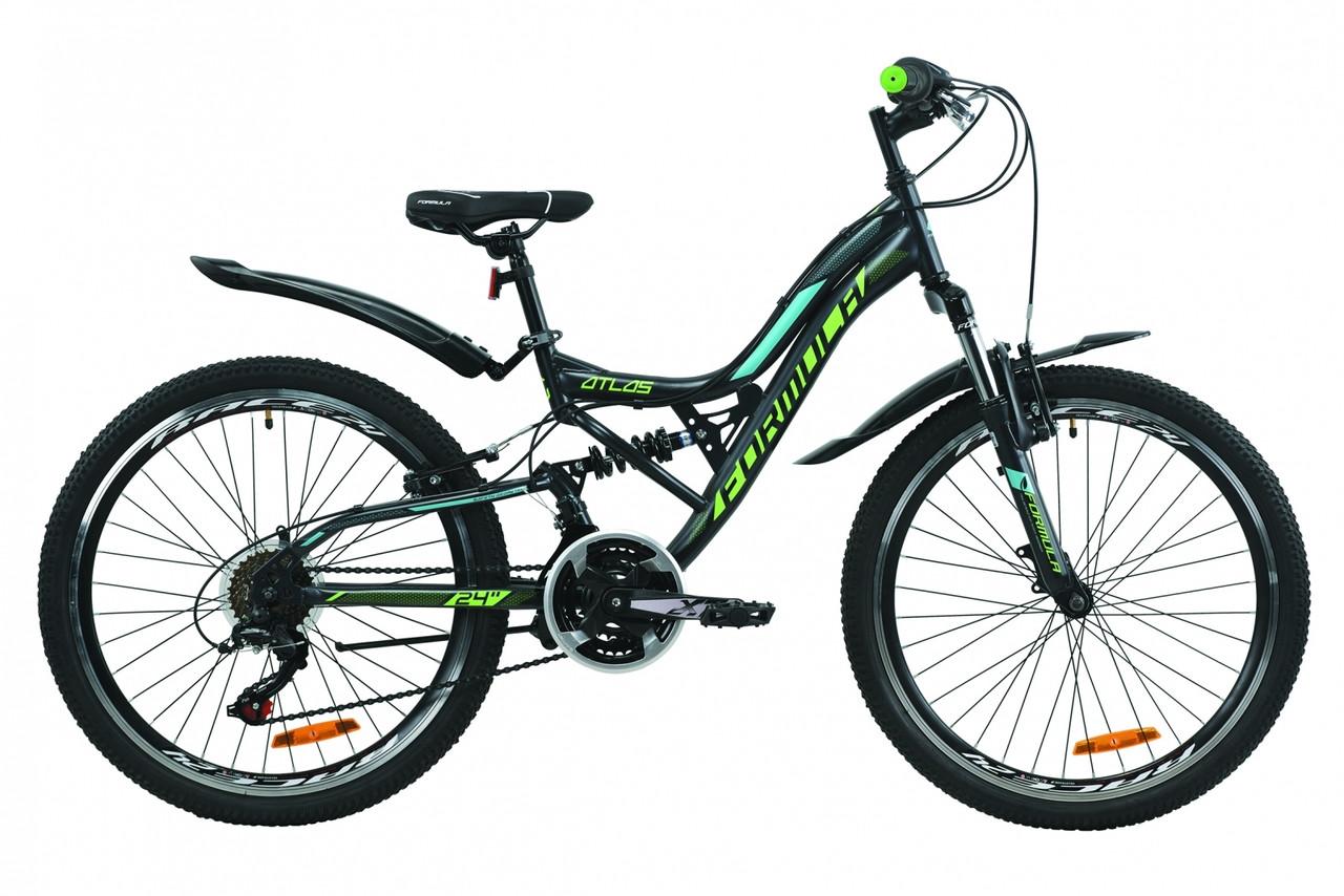 """Велосипед 24"""" Formula ATLAS Vbr 2020 (антрацитово-зеленый с бирюзовым (м))"""
