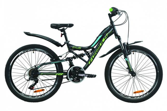 """Велосипед 24"""" Formula ATLAS Vbr 2020 (антрацитово-зеленый с бирюзовым (м)), фото 2"""