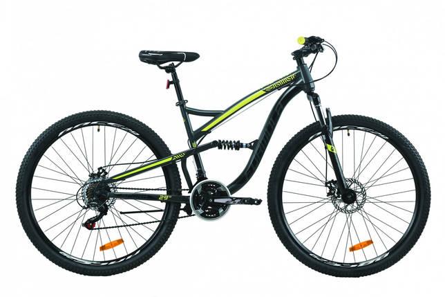 """Велосипед 29"""" Formula SPARK DD 2020 (серо-черный с желтым (м)), фото 2"""