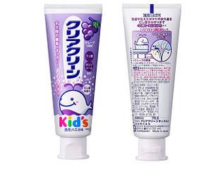 Kao Clear Clean Kids A5 дитяча зубна паста-гель з мікрогранулами і смаком винограду 70 г