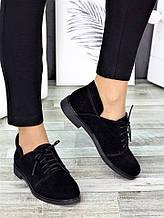 Туфлі чорні замшеві 7262-28