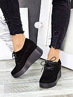 Туфли замшевые на платформе 7281-28, фото 1