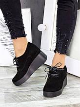 Туфлі замшеві на платформі 7281-28