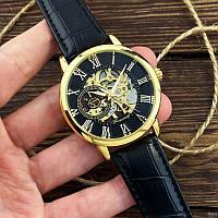 Механические часы Forsining 8099 Black-Gold-Black