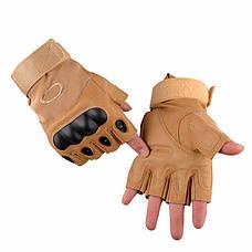 Тактические военные перчатки Oakley открытие 3 цвета в наличии, фото 3