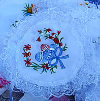 Великодні вишивані серветки на дитячу кошик в різних кольорах