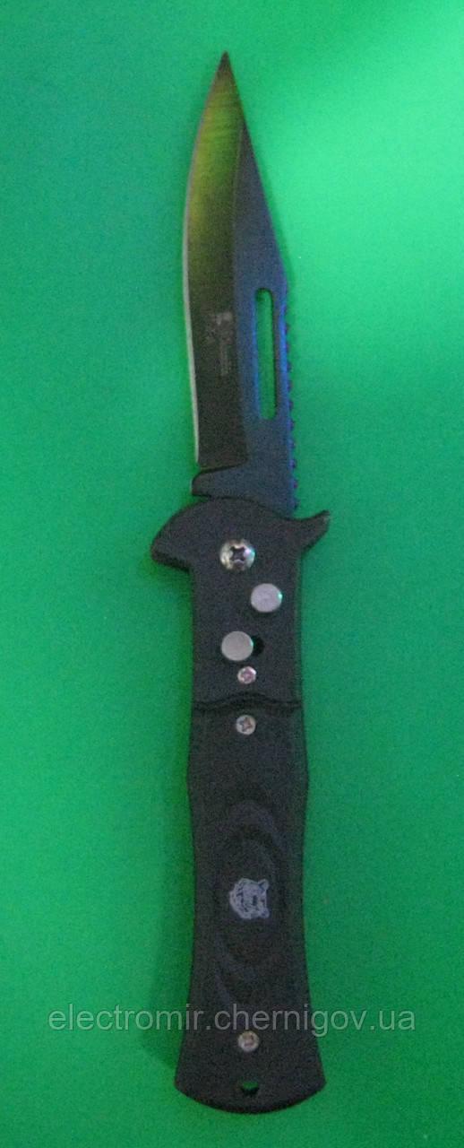 Нож складной с кнопкой G12 (с клипсой)