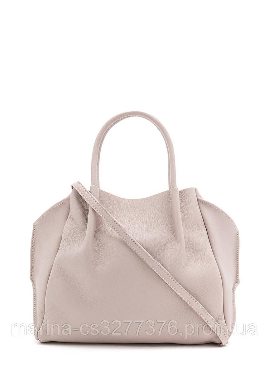 Кожаная сумка POOLPARTY Soho Remix бежевая женская