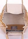 Кожаная сумка POOLPARTY Soho Remix золотая женская, фото 4