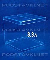 Ящик для пожертвований на 3,3 литра, акрил 1.8, габариты (ШхВхГ) 150х150х150 мм (PR-207)