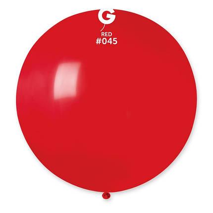 """Куля 31"""" (80 см) Gemar пастель 45 червоний (Джемар), фото 2"""
