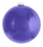 Шар на елку синий перламутр Новогодько d-25 972683